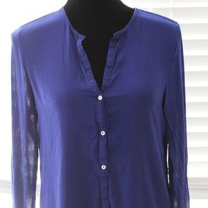 Zara Sheer Long sleeve Top- Size L